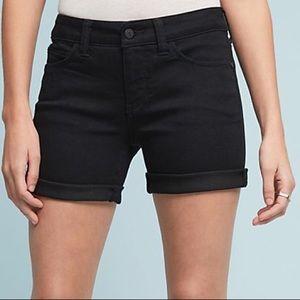 Anthropologie Pilcro Stet Black Jean Shorts